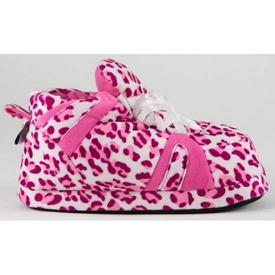 Sloffen en Pantoffels Sneaker sloffen meisjes luipaard roze