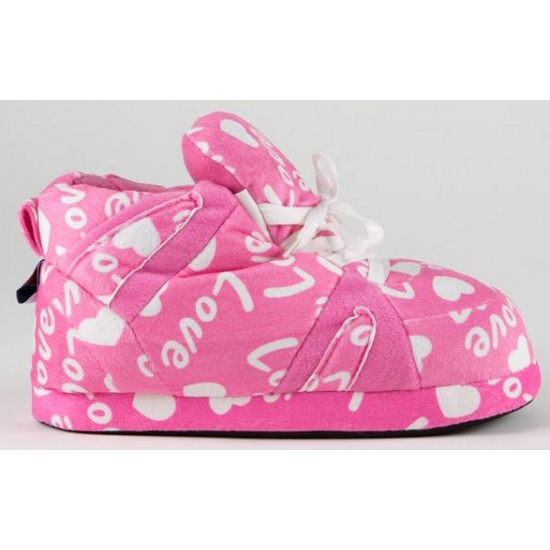 Sloffen en Pantoffels Bellatio Sneaker sloffen meisjes roze love