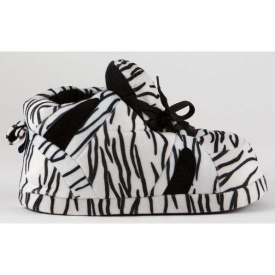Bellatio Sneaker sloffen meisjes zebra zwart wit Sloffen en Pantoffels