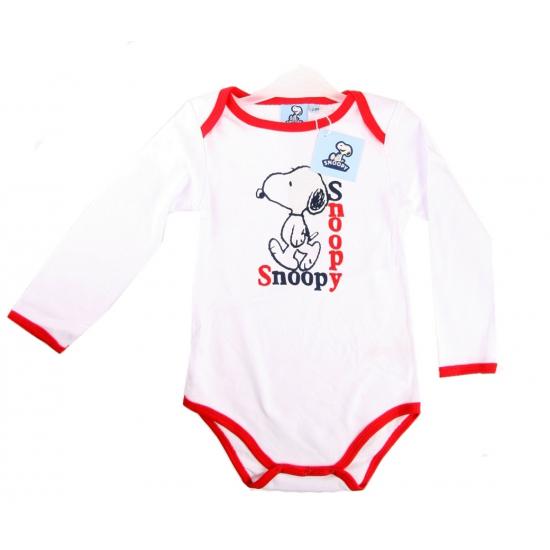 Overige kleding Snoopy lange mouw rompertje wit rood
