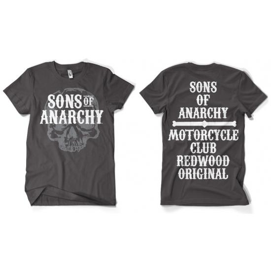 T shirts Bellatio Sons Of Anarchy grijs shirt heren