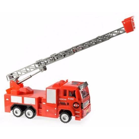 Speelgoed brandweerauto met licht en geluid 27 cm