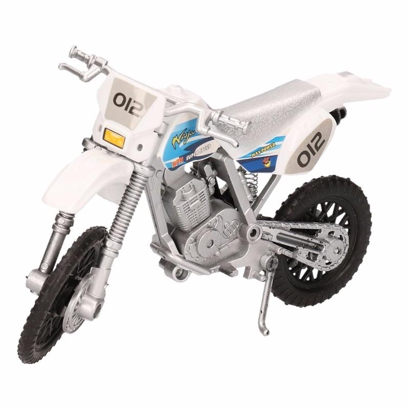 Speelgoed cross motor wit