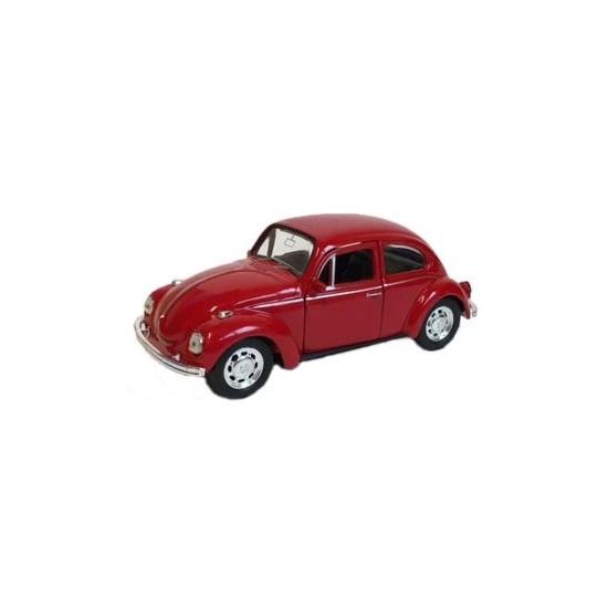 Speelgoed Volkswagen Kever Witte Cabrio Auto 12 Cm Wit