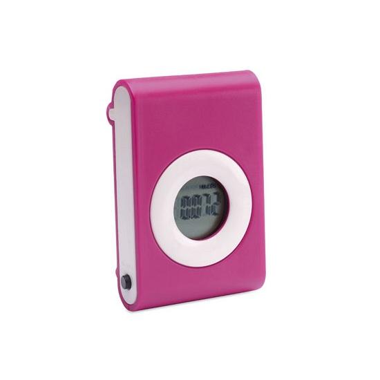 Stappenteller roze met riem clip. een handige roze stappenteller welke d.m.v. gezette stappen uw gelopen ...
