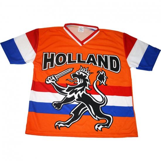T-shirt Holland met zwarte leeuw en vlag voor kinderen