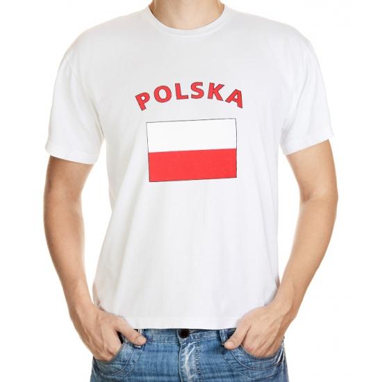 Shoppartners T shirt Polska voor heren Landen versiering en vlaggen