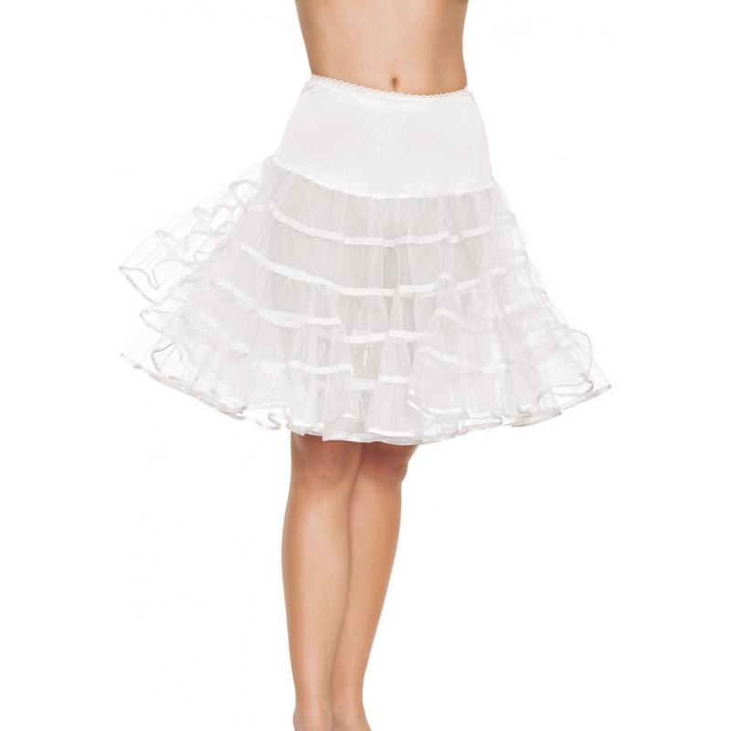 Toppers - Lange witte petticoat voor dames