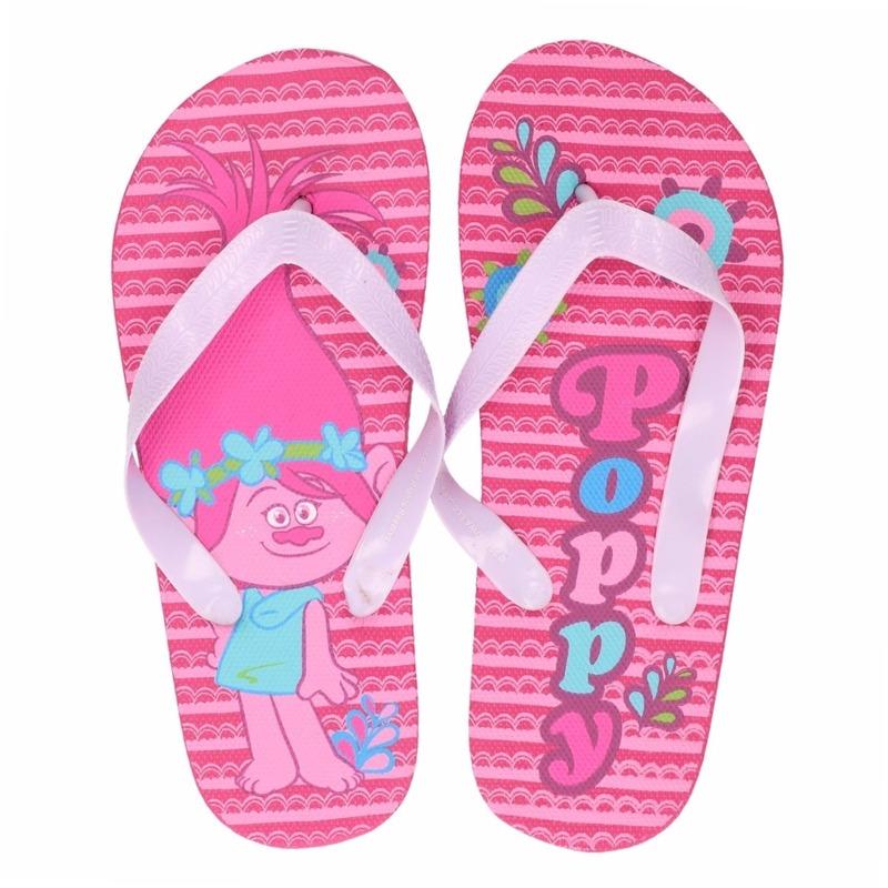 Trolls Trolls teenslippers roze Poppy voor meisjes Schoenen en laarzen