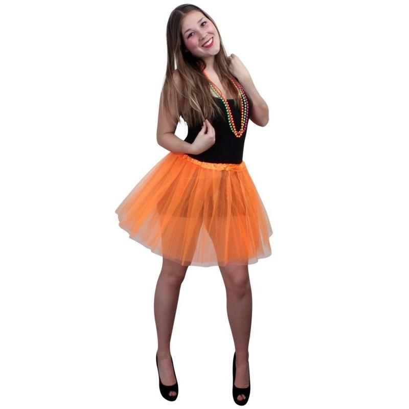 Tule rokje voor dames oranje