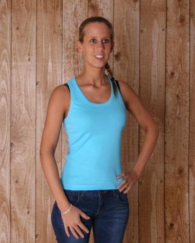 Turquoise dames t shirt Coconut Sols beste prijs