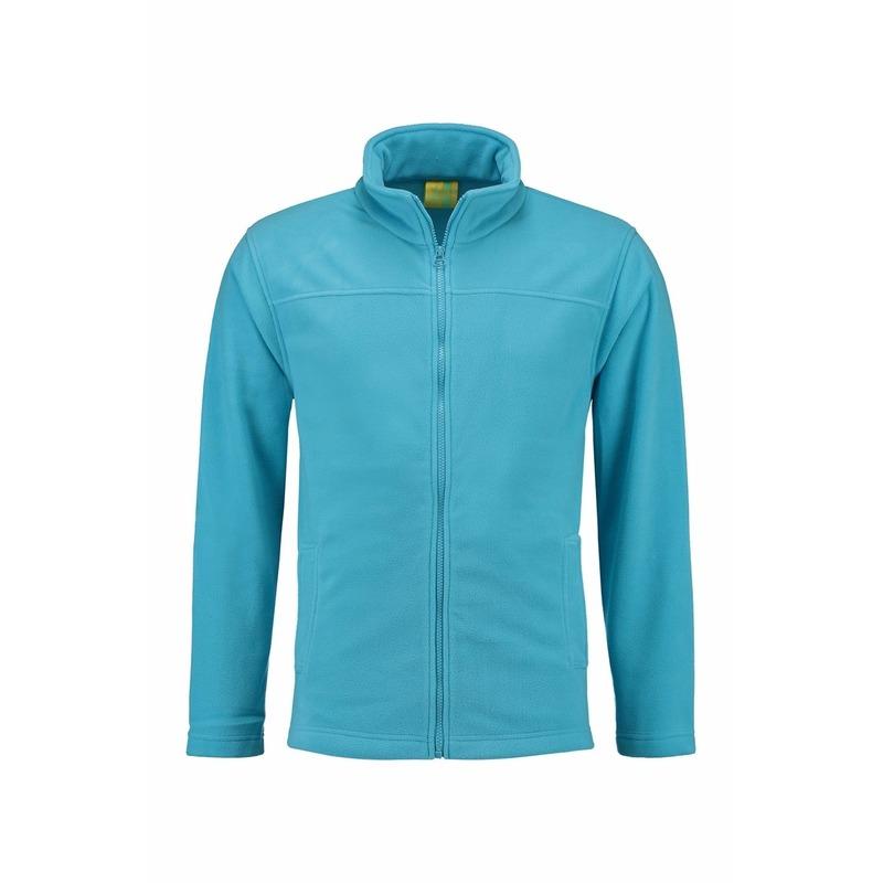 Truien en sweaters L S Turquoise fleece vest met rits voor volwassenen