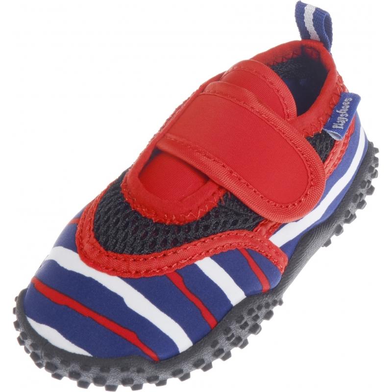 Schoenen en laarzen Playshoes UV waterschoenen blauw rood gestreept voor kinderen