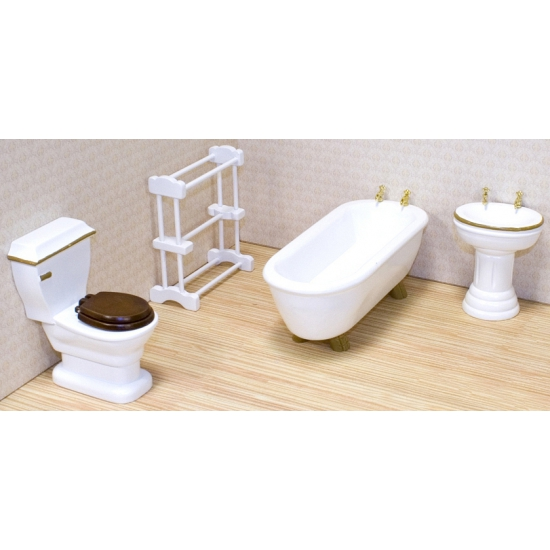 victoriaans poppenhuis badkamer meubels poppenhuis