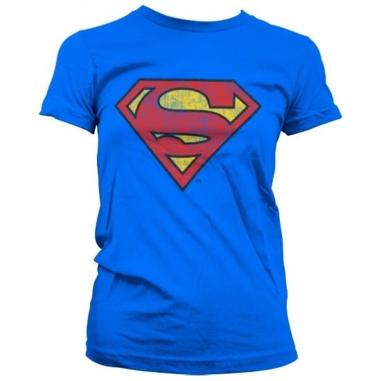 T shirts Superman Vintage Superman logo t shirt dames
