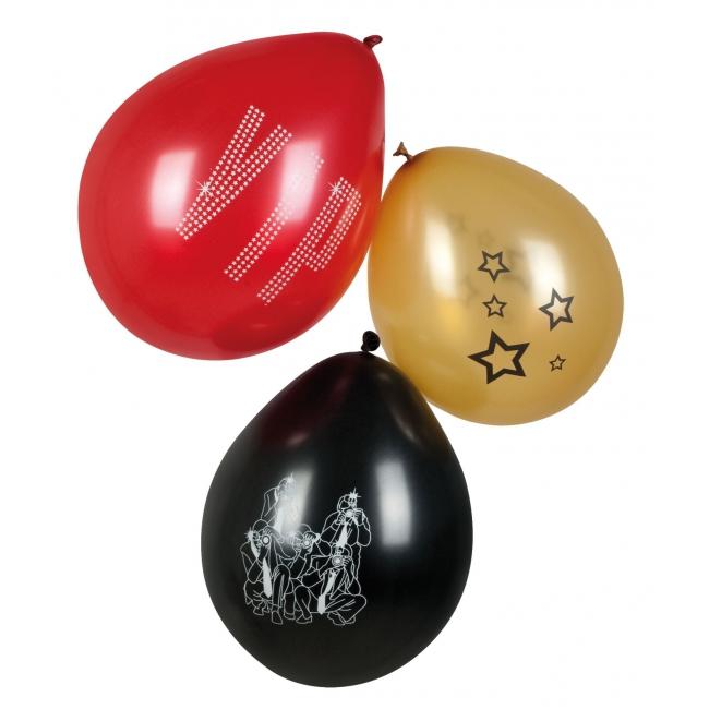 Thema feestartikelen Bellatio VIP ballonnen 6 stuks