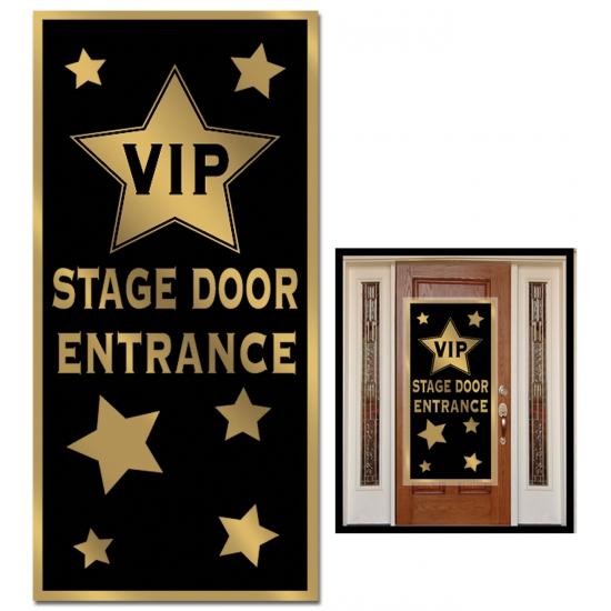 VIP ingang deur banner 76 x 150 cm Bellatio Thema feestartikelen
