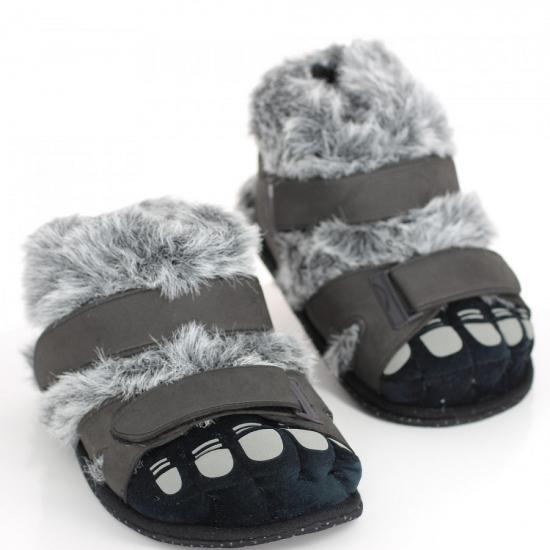 Sloffen en Pantoffels Geen Volwassenen sloffen harige voeten