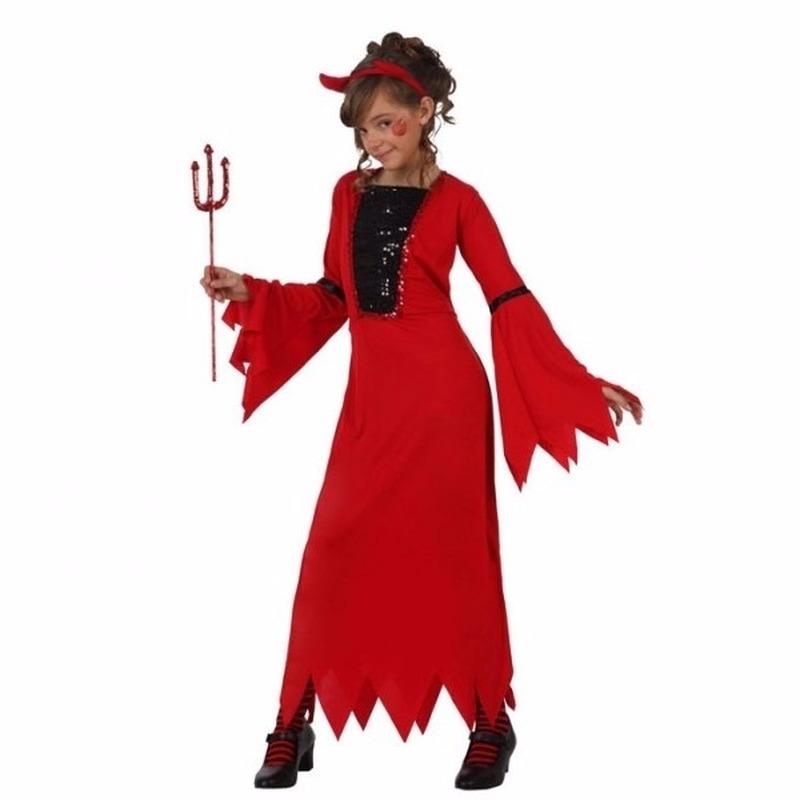 Voordelig Halloween duivel jurkje voor meisjes