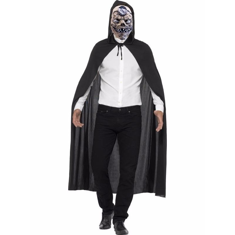 Voordelig Halloween kostuum cape en mad doctor masker