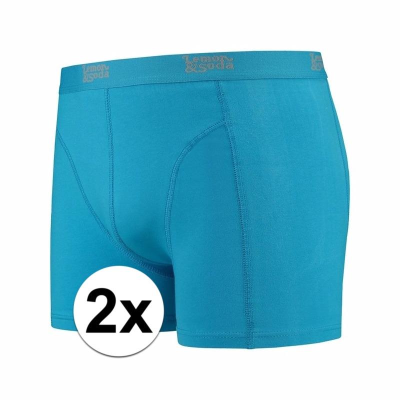 Voordelige blauwe boxershorts 2-pak Lemon and Soda