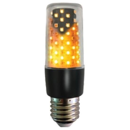 Vuur effect lamp zwarte E27 fitting indoor/outdoor