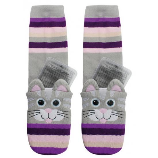 Sokken en Panty's Bellatio Warmte sokken kat voor kinderen