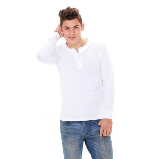Wit Bella shirt voor heren met knoop
