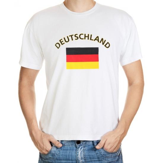 Wit t shirt Duitsland heren Shoppartners goedkoop online kopen