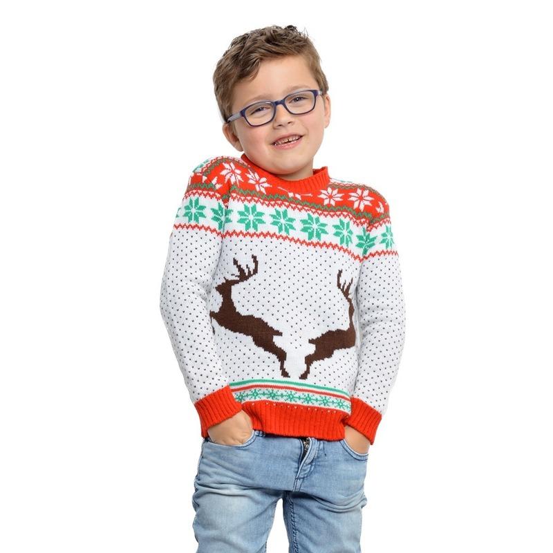 witte-kerst-trui-met-rendieren-voor-kinderen