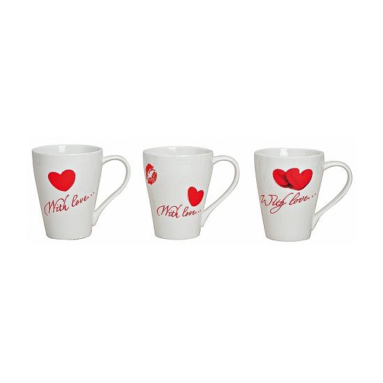Witte Valentijn beker met hartjes