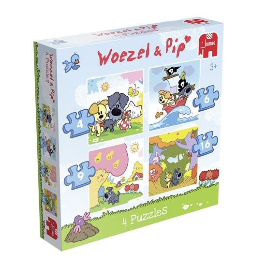 Woezel En Pip Puzzels 4 Stuks