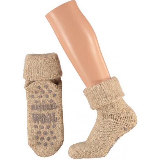 Sokken en Panty's Bellatio Wollen huis sokken voor dames beige