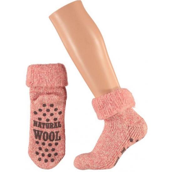 Sokken en Panty's Bellatio Wollen huis sokken voor dames roze