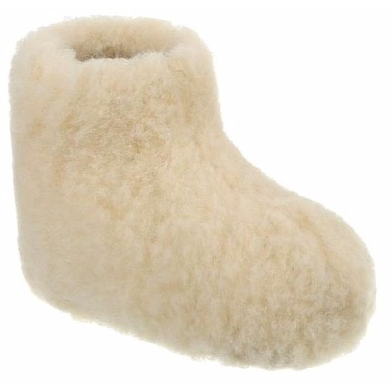 Wollen pantoffels wit voor kinderen Geen Sloffen en Pantoffels