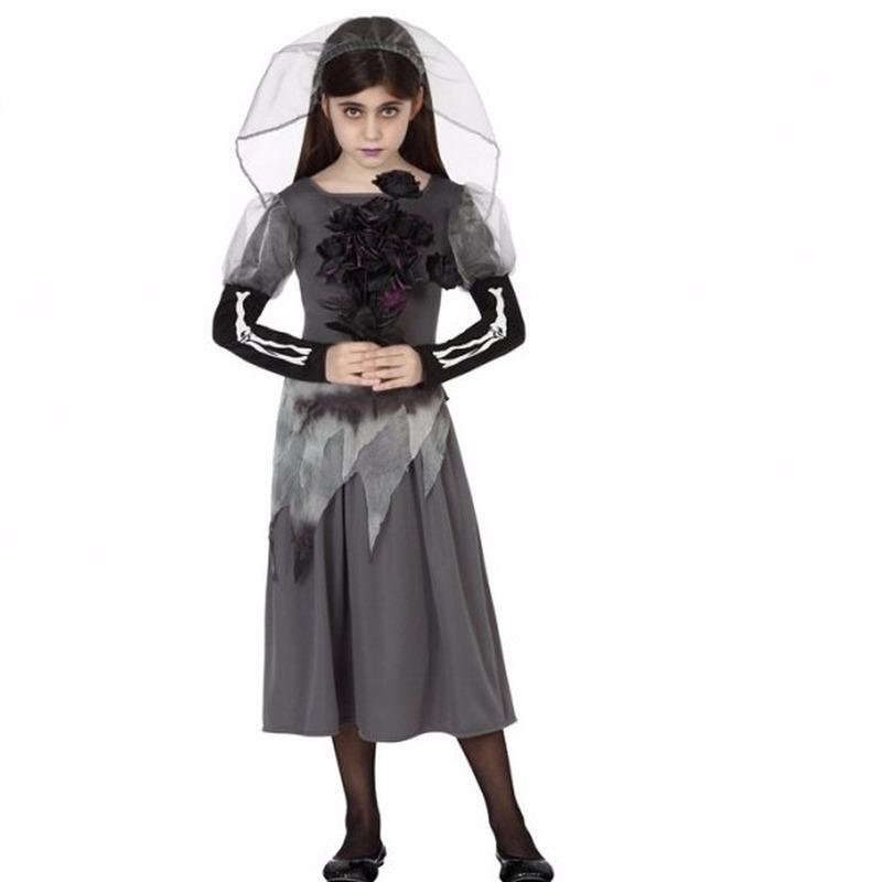 Zombie bruidsjurk inclusief sluier voor meisjes