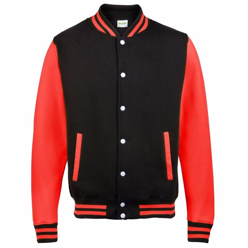 Zwart met rood college jacket voor dames AWDis Beste koop