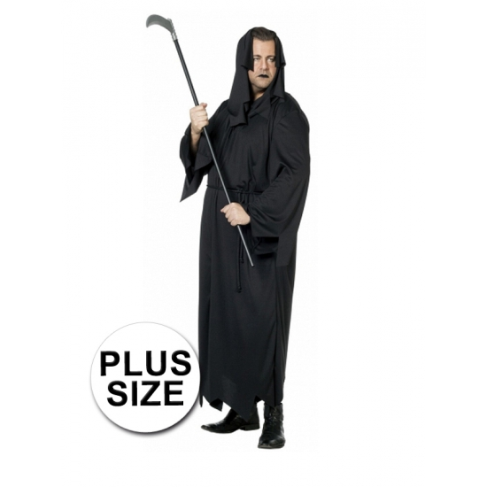 Zwarte dood horror / halloween kostuum grote maat