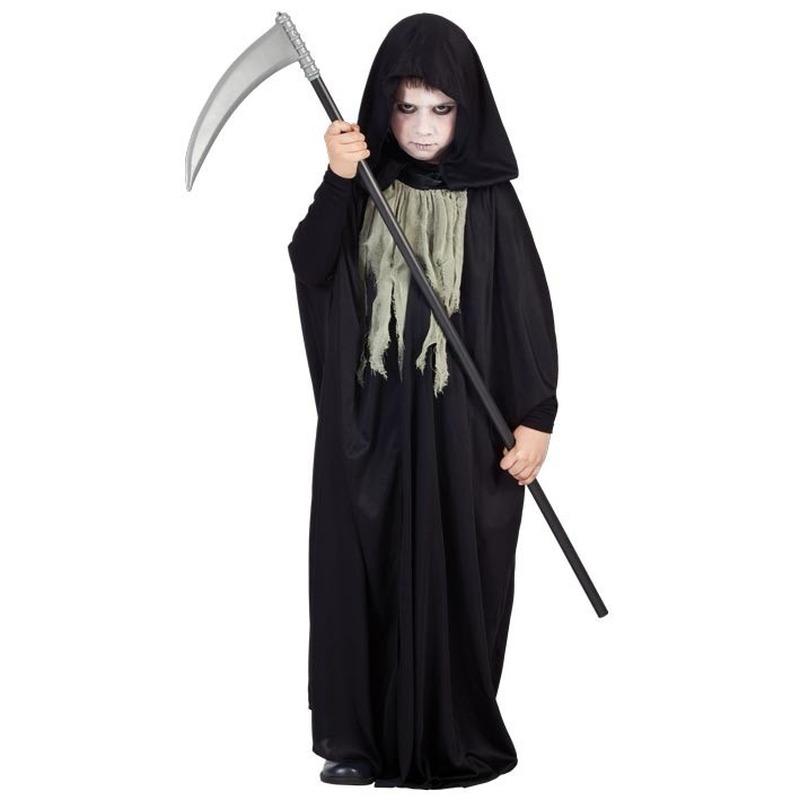 Zwarte halloween cape voor kinderen