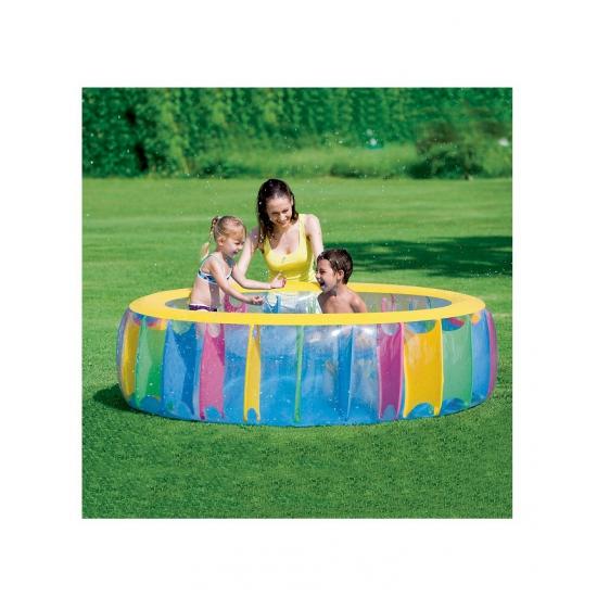 Cashback store 4 uitsteekvormen rond - Ontwikkeling rond het zwembad ...