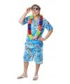 Blauw Hawaii pak voor heren