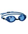 Blauw witte zwembril voor volwassenen