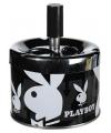 Druk asbak Playboy zwart