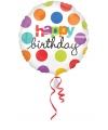 Folie ballon Birthday gekleurd