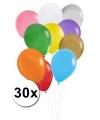Gekleurde ballonnen 30 stuks