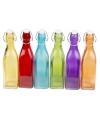 Gekleurde decoratie fles 27 cm