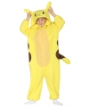 Gele cartoon chinchilla onesie voor kinderen