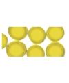 Gele mozaiek steentjes rond