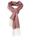 Geweven visgraat sjaal donker rood
