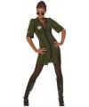 Groen piloten jurkje voor dames
